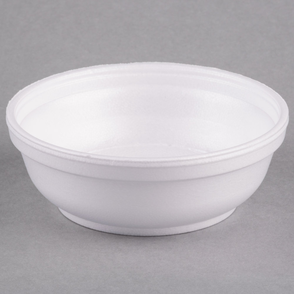 Dart 6B20 6 Oz Insulated White Foam Bowl 1000Case