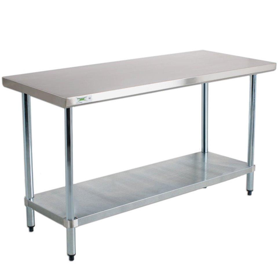 """regency 18 gauge 24"""" x 48"""" 304 stainless steel work table"""