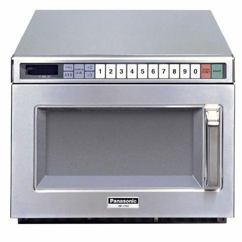 panasonic ne 21521 stainless steel commercial microwave oven 208 240v 2100w
