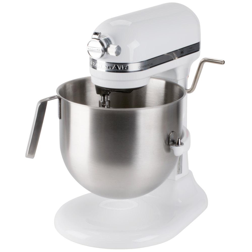 Kitchenaid Ksm8990wh White Nsf 8 Qt Bowl Lift Commercial