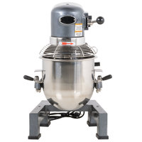 Avantco MX10 10 Qt. Gear Driven Commercial Planetary Stand Mixer with Guard - 110V, 3/4 hp