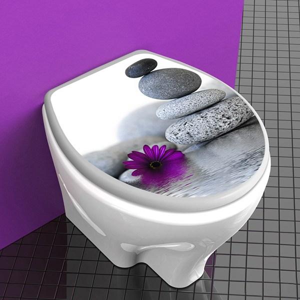 couvercle wc fleur de pierre zen