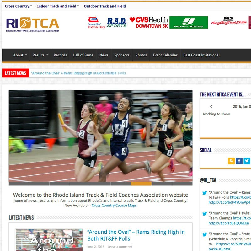 RITCA wordpress design