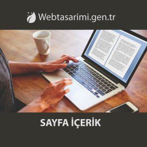 Sayfa içerik hizmeti