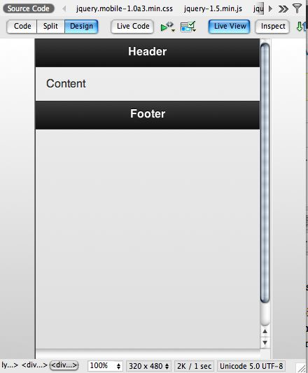 jquery basic live view