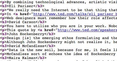 clean html