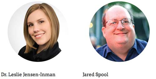 Leslie Jensen-Inman and Jared Spool