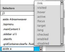 The field remains editable so that descendant selectors can be built
