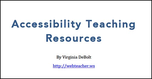 Accessibility Teaching Resources