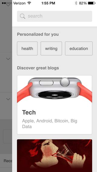 Search for the blog you want to add