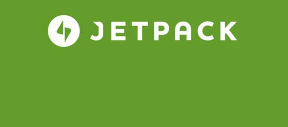 Jetpack logo on a green background