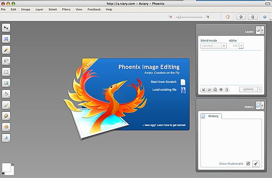 Image Editor opening screen