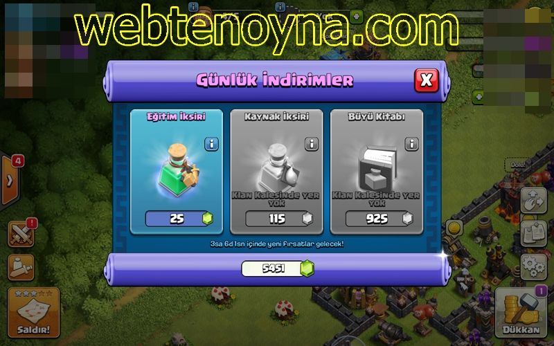 coc Clash of Clans mart 2018 Tüccar