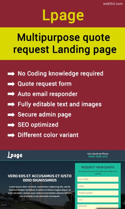 Multipurpose-quote-request-Landing-page-pinterest