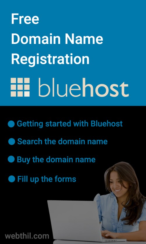 free-domain-name-registration-in-bluehost-pinterest