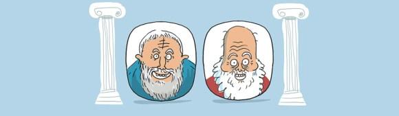 Socrate et Platon : les deux auteurs considérés comme pères de la philosophie occidentale sont aussi de la partie dans Philocomix.