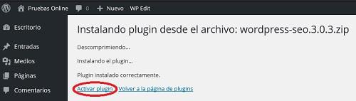 instalar plugin wordpress