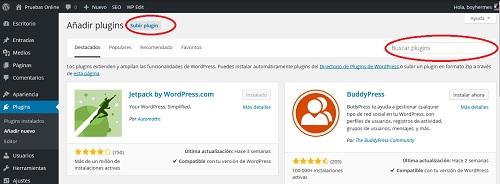 instalar plugins wordpress