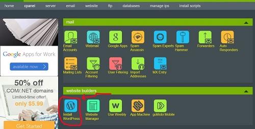 como instalar wordpress hostmonster