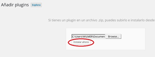 instalando plugins en wordpress