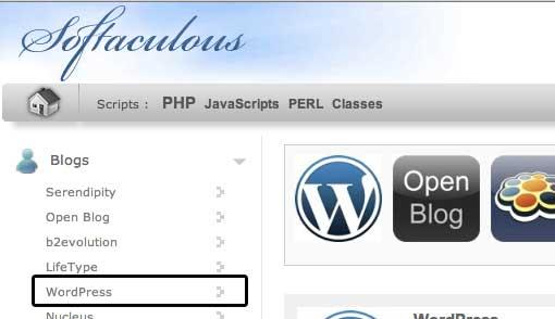 instalar wordpress softaculous