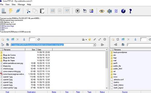 instalar wordpress ftp