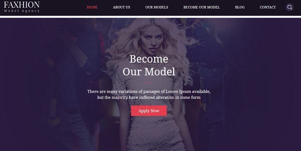 Plantillas Wordpress Para Agencias De Modelos - Faxhion » webtralia.com