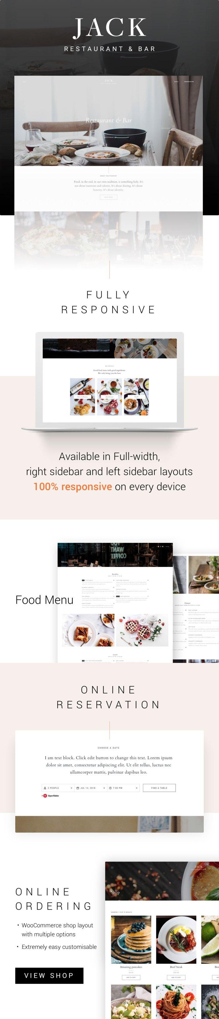 Tema del restaurante WordPress