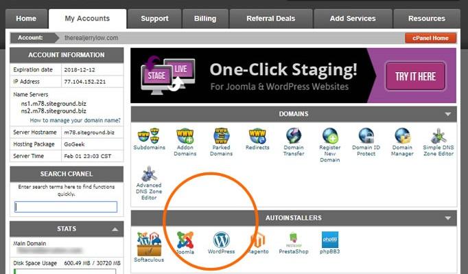 ejemplos de hosting