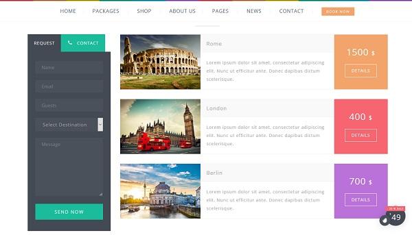 Temas Wordpress Para Agencias De Viajes - Love Travel » webtralia.com