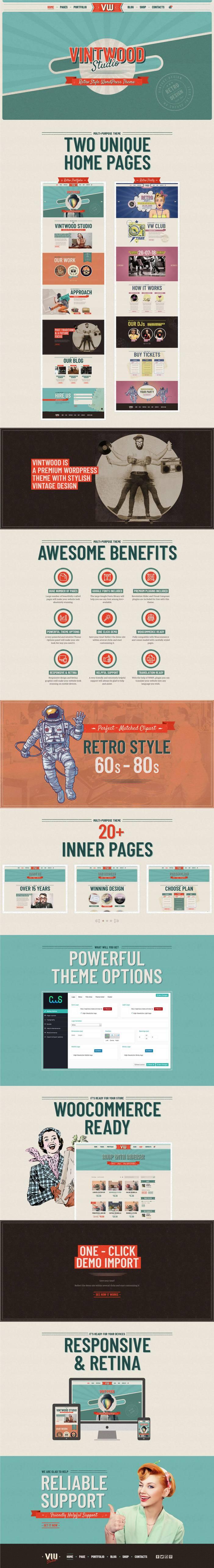 VintWood - un tema de WordPress retro y vintage