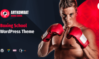 boxing school wordpress theme