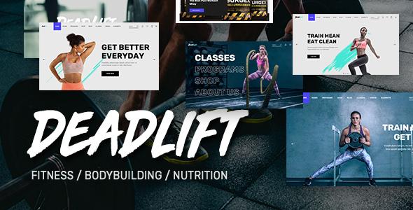 fitness wordpress themes
