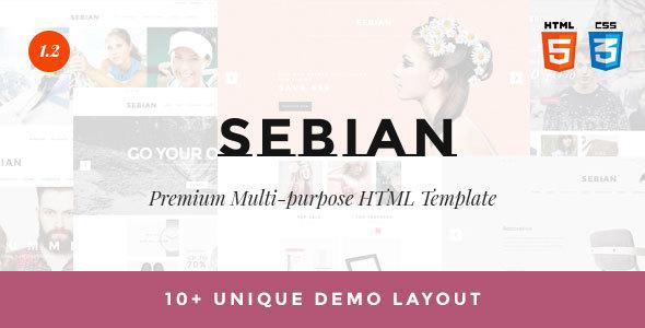SEBIAN - Plantilla multiusos de eCommerce HTML5