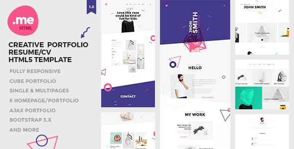 Yo - Creative Portafolio y Currículum vitae / CV Plantilla HTML5