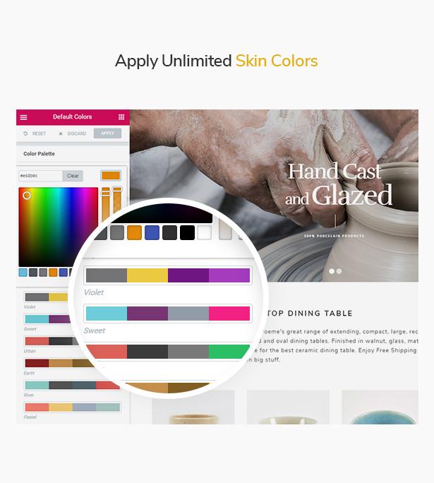 Colores de piel ilimitados WooCommerce