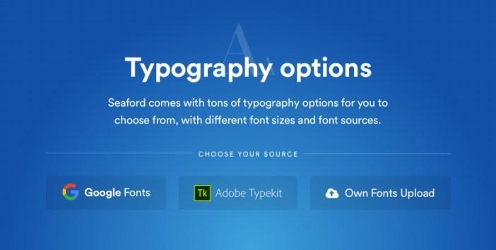 Opciones de tipografía de Seaford