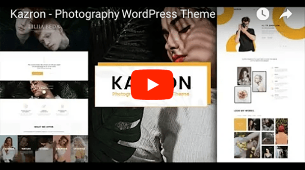 Tema WordPress Fotografía