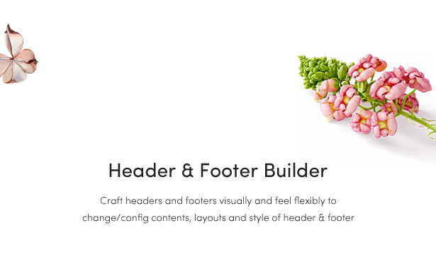 Temas de moda de woocommerce: constructor de encabezados y pies de página