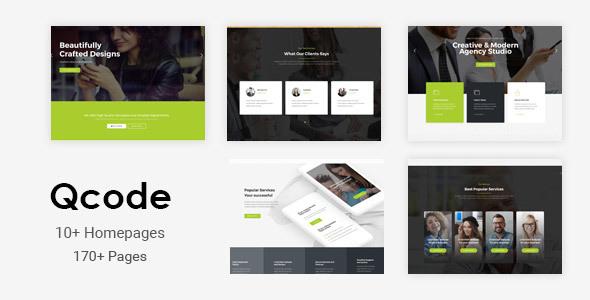 Qcode - Tema de negocios Joomla multiusos sensible con creador de páginas - Empresa corporativa