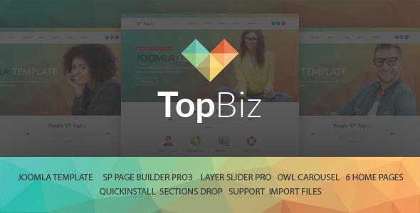 TopBiz - Plantilla Joomla corporativa responsiva con Page Builder - Joomla corporativa