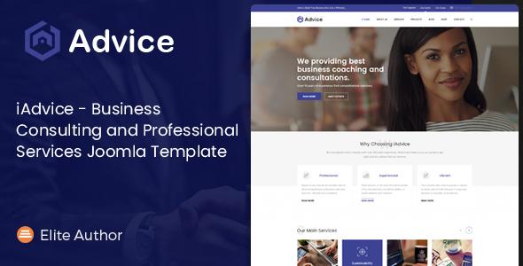 iAdvice - Plantilla Joomla de servicios de consultoría de negocios y servicios profesionales - Empresa corporativa