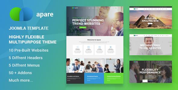 Apare - Tema Joomla de arrastrar y soltar multiusos y sensible - Business Corporate