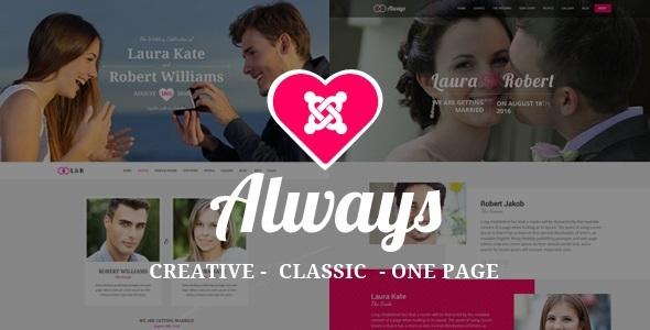 SIEMPRE - Plantilla de boda responsiva de Joomla con creador de página - Joomla de boda