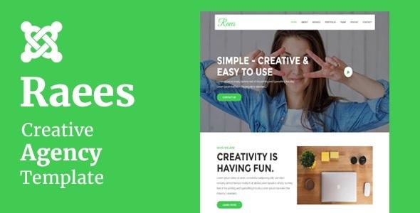 Raees - Agencia Creativa Tema Joomla Con Page Builder - Tecnología Joomla
