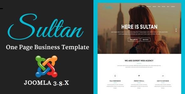Sultan - Tema Joomla multiusos de negocios de una página con Page Builder - Corporate Joomla