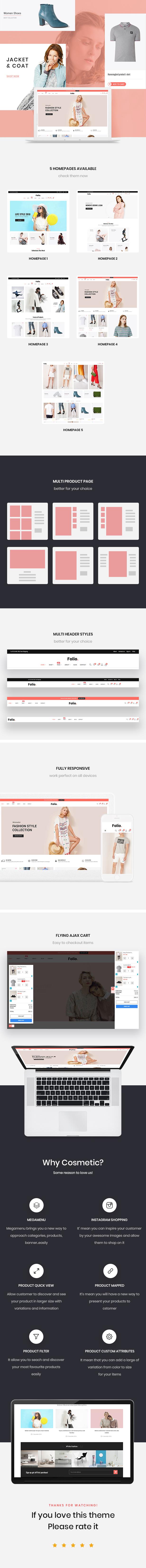 Folio Fashion Store prestashop 1.7 temas
