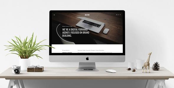 Belton - Tema de Joomla multiusos mínimo en blanco y negro - Empresa corporativa