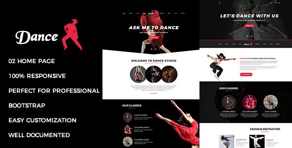 Danza - Tema Joomla multiusos y receptivo con Page Builder - Corporate Joomla