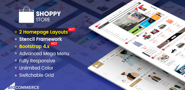 ShoppyStore: tema de BigCommerce de plantilla de usos múltiples y listo para AMP de Google